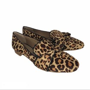 Jack Rogers Holly haircalf leopard print loafers